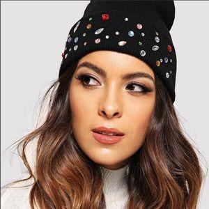 Zara rhinestone beanie brand new
